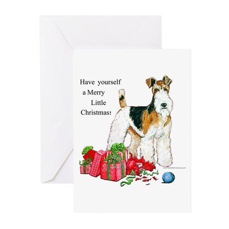 Merry Little Fox Terrier Greeting Cards (Pk of 20)