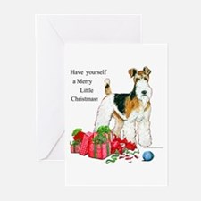 Merry Little Fox Terrier Greeting Cards (Pk of 10)