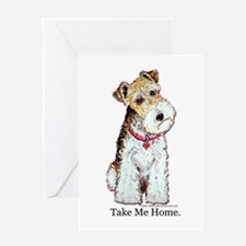 Homeless Fox Terrier Greeting Card