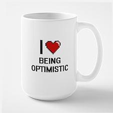 I Love Being Optimistic Digitial Design Mugs
