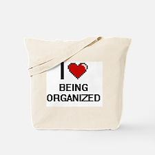 I love Being Organized Digitial Design Tote Bag