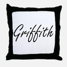 Griffith surname artistic design Throw Pillow