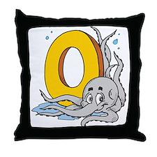 O For Octopus Throw Pillow