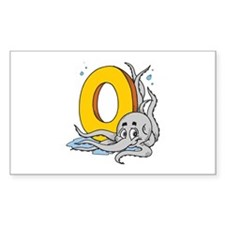 O For Octopus Rectangle Decal