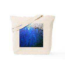 Sea Blue Peacock Feathers Tote Bag