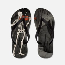skeleton violin Flip Flops