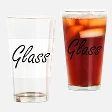 Glass surname artistic design Drinking Glass
