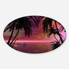 Awesome tropical sunset Decal