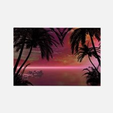 Awesome tropical sunset Magnets