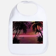 Awesome tropical sunset Bib