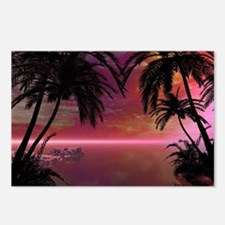 Awesome tropical sunset Postcards (Package of 8)