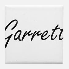 Garrett surname artistic design Tile Coaster
