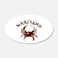 Maryland Flag Crab Wall Decal
