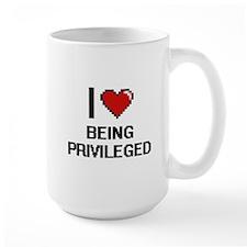 I Love Being Privileged Digitial Design Mugs