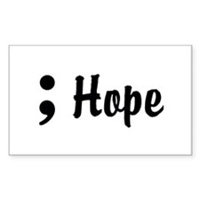 Hope Semicolon Decal