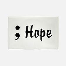 Hope Semicolon Rectangle Magnet