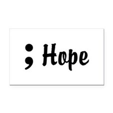 Hope Semicolon Rectangle Car Magnet
