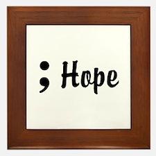 Hope Semicolon Framed Tile