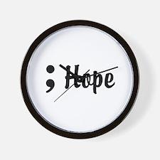 Hope Semicolon Wall Clock