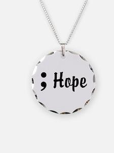 Hope Semicolon Necklace