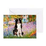 Garden & Border Collie Greeting Card