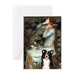 Ophelia & Border Collie Greeting Card