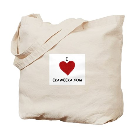 I LOVE EKAWEEKA.COM Tote Bag