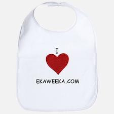 I LOVE EKAWEEKA.COM Bib