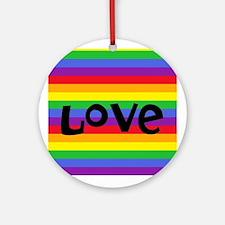 love rainbow accessories Ornament (Round)