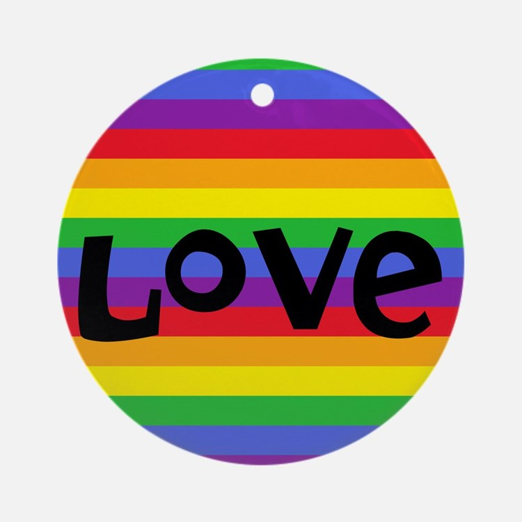 love rainbow accessories Ornament (Round)