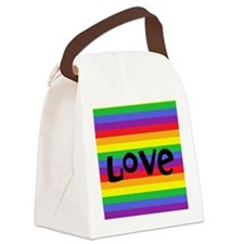 love rainbow accessories Canvas Lunch Bag