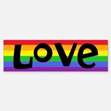 Cute Love wins Sticker (Bumper)