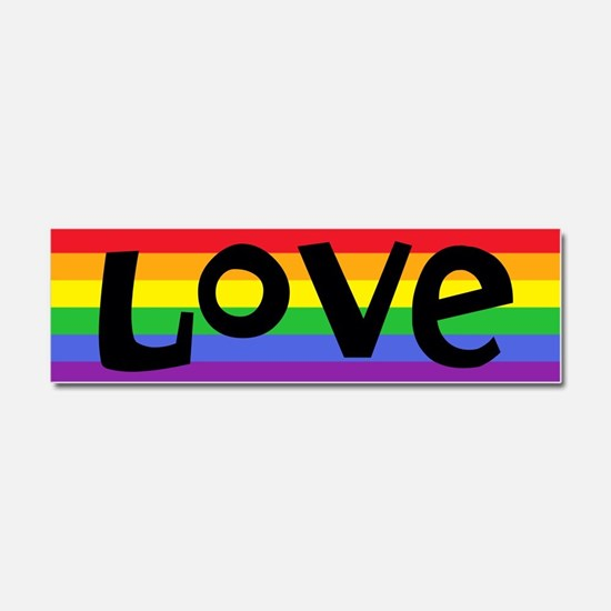 love rainbow 2 Car Magnet 10 x 3