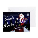 Guitar christmas Greeting Cards