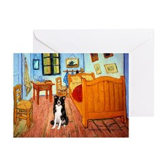 Room with Border Collie Greeting Cards (Pk of 20)