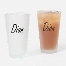 Dion surname artistic design Drinking Glass