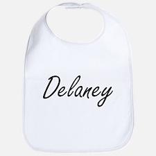 Delaney surname artistic design Bib