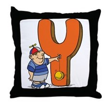 Y For Yoyo Throw Pillow