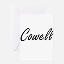 Cowell surname artistic design Greeting Cards