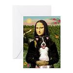 Mona & Border Collie Greeting Card