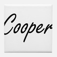 Cooper surname artistic design Tile Coaster