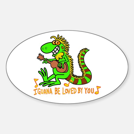 I want to be loved by you Iguana Decal