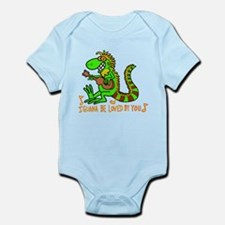 I want to be loved by you Iguana Body Suit