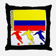 Colombia Soccer Throw Pillow