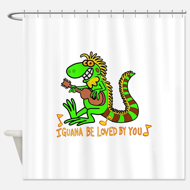 I want to be loved by you Iguana Shower Curtain