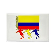 Colombia Soccer Rectangle Magnet (10 pack)
