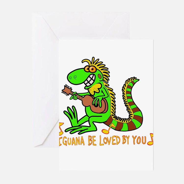 I want to be loved by you Iguana Greeting Cards