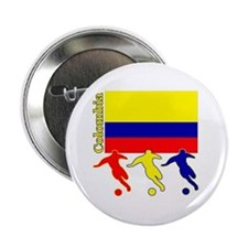 "Colombia Soccer 2.25"" Button (10 pack)"