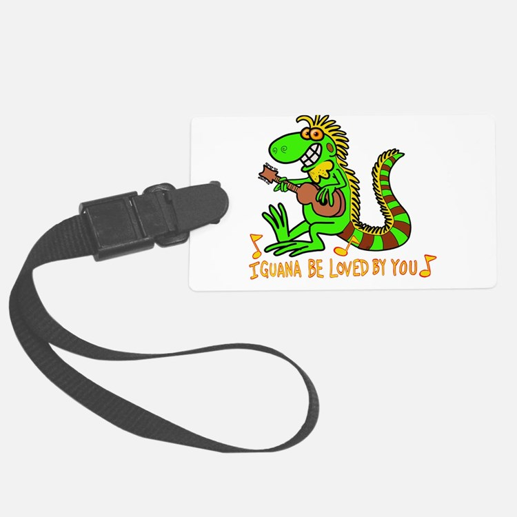 I want to be loved by you Iguana Luggage Tag