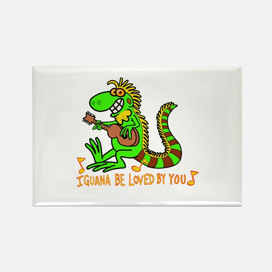I want to be loved by you Iguana Magnets